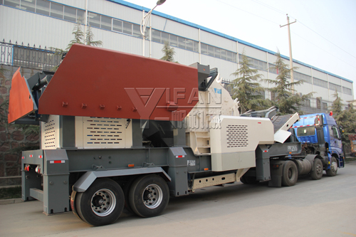 Yifan PP255 mobile impact crusher station applied in Yinning