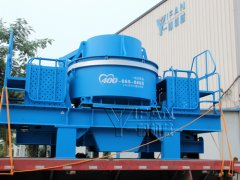 CV vertical shaft impact crusher sent to Guangxi