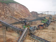 300t/h sand production line in gansu