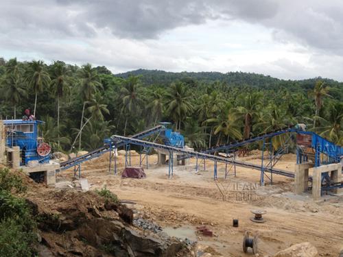 basalt production line