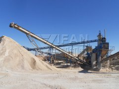 150t/h limestone production line in Algeria