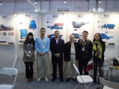 Customers visit our booth at BICES 2013