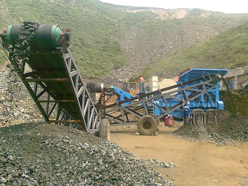 Iron mobile jaw crusher